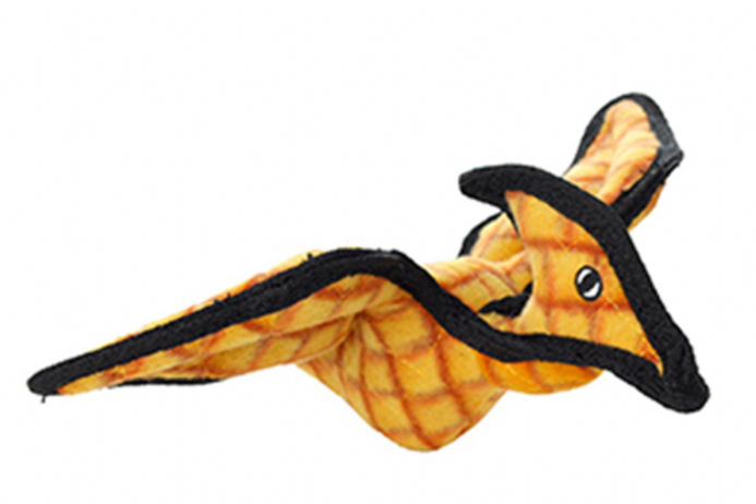The Tuffy Pterodactyl dog toy is the perfect flying companion for dogs who love all things prehistoric!